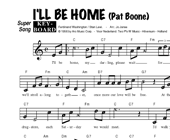 Pat Boone: I'll Be Home hoesje