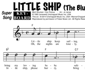 The Blue Diamonds: Little Ship hoesje