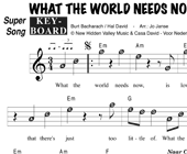 Jackie DeShannon: What The World Needs Now Is Love hoesje